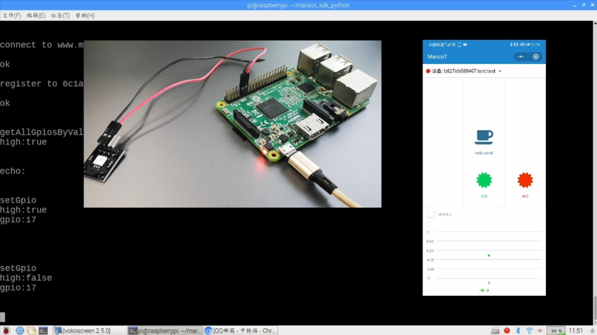 树莓派遥控器小程序的使用